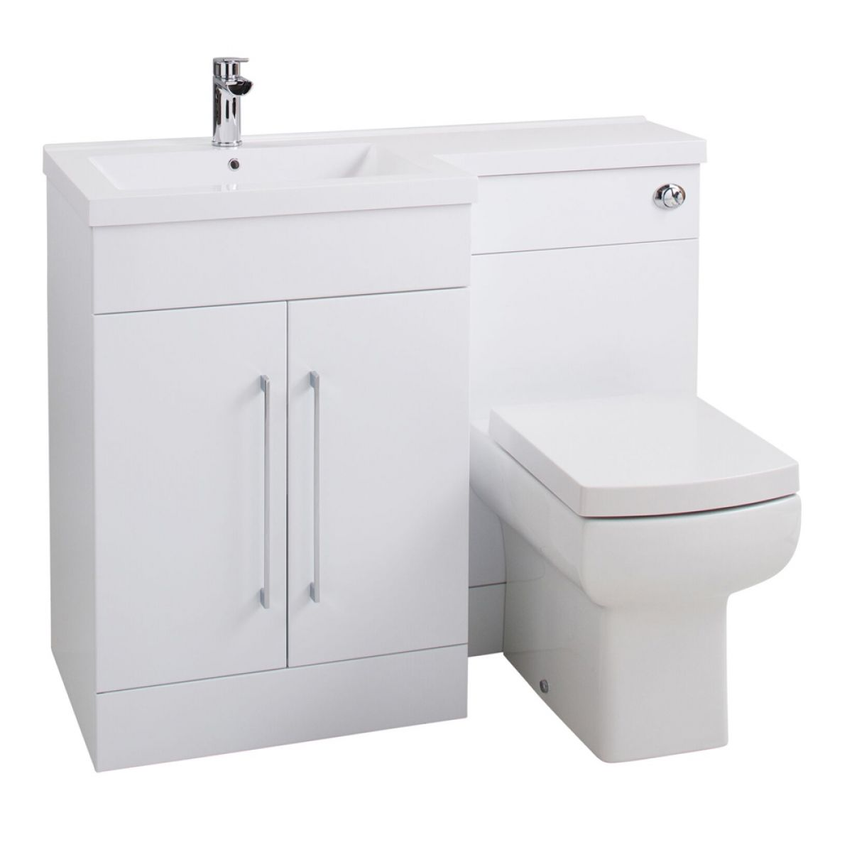 Cassellie Maze Gloss White L-Shaped Combination Furniture Pack