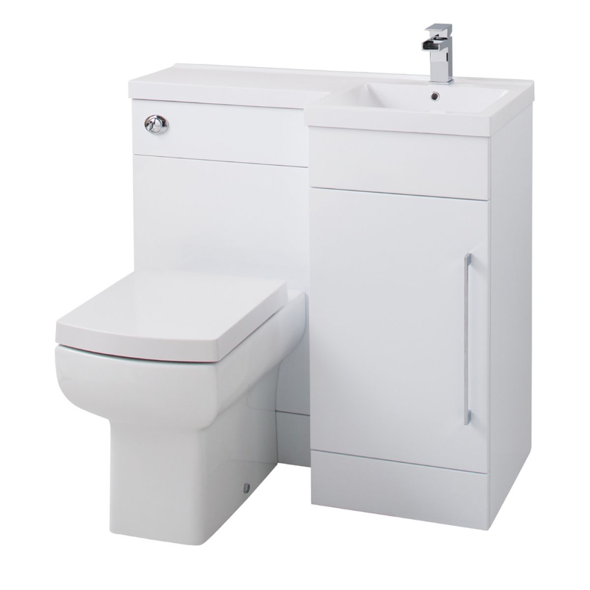 Cassellie Maze Gloss White Compact L-Shape Combination Furniture Pack
