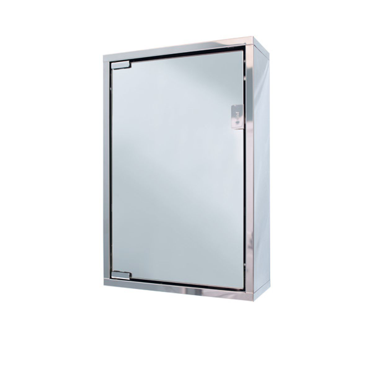 Cassellie Chrome Wall Hung Single Door Mirror Cabinet