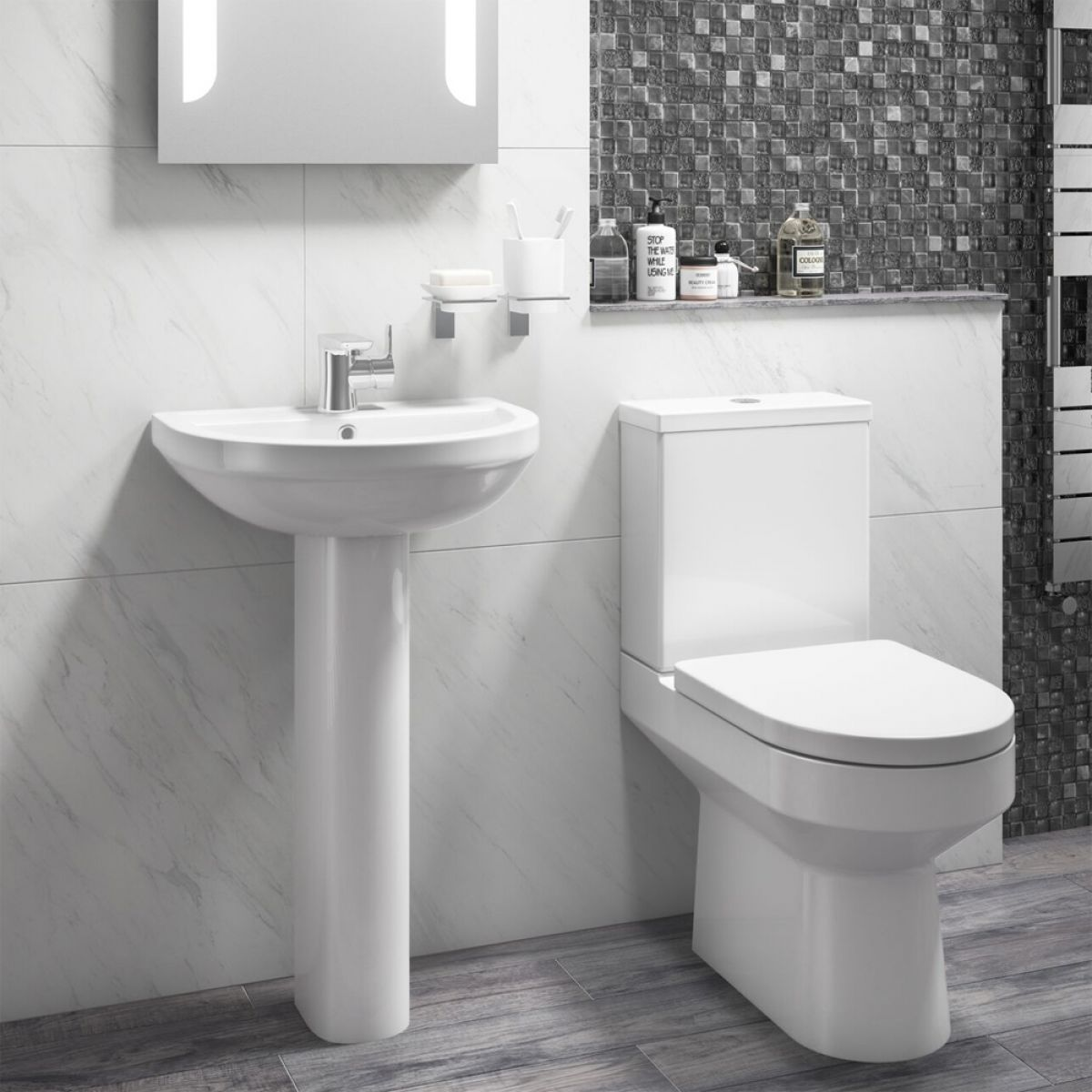 Cassellie Montego 1 Tap Hole Basin with Full Pedestal