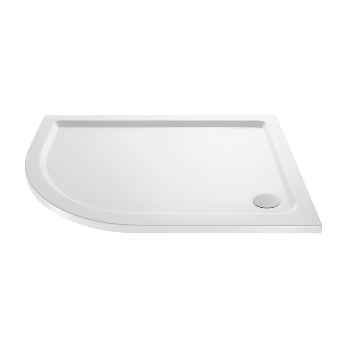 Cassellie Offset Quadrant Shower Tray 1000 x 800mm Left Handed