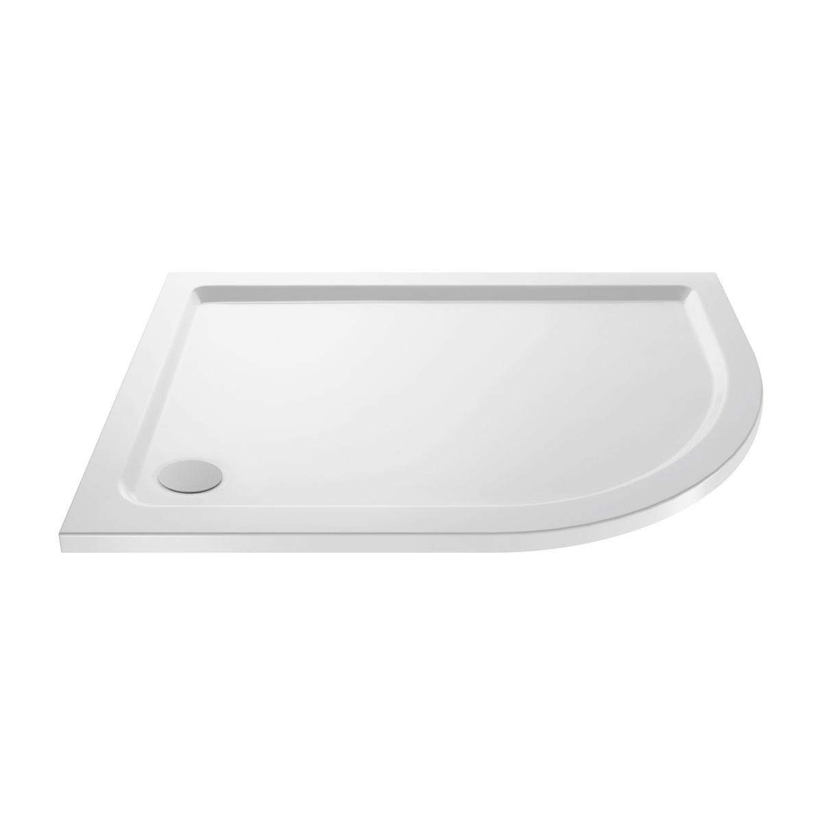Cassellie Offset Quadrant Shower Tray 900 x 760mm Right Handed