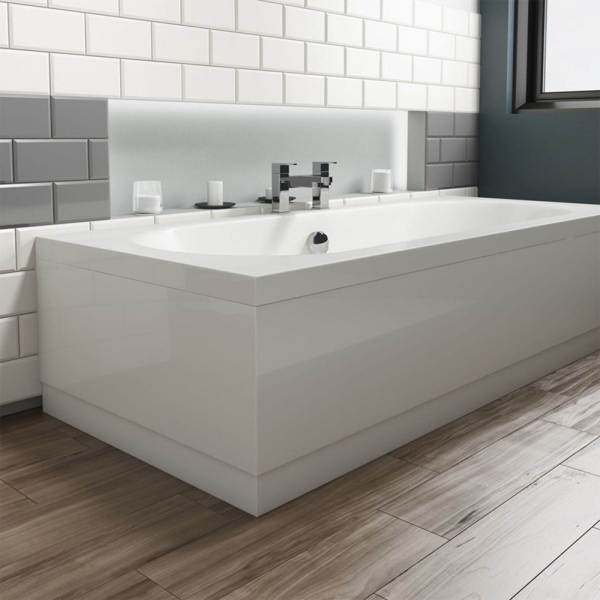 Cassellie Gloss White Adjustable Front Panel 1700mm