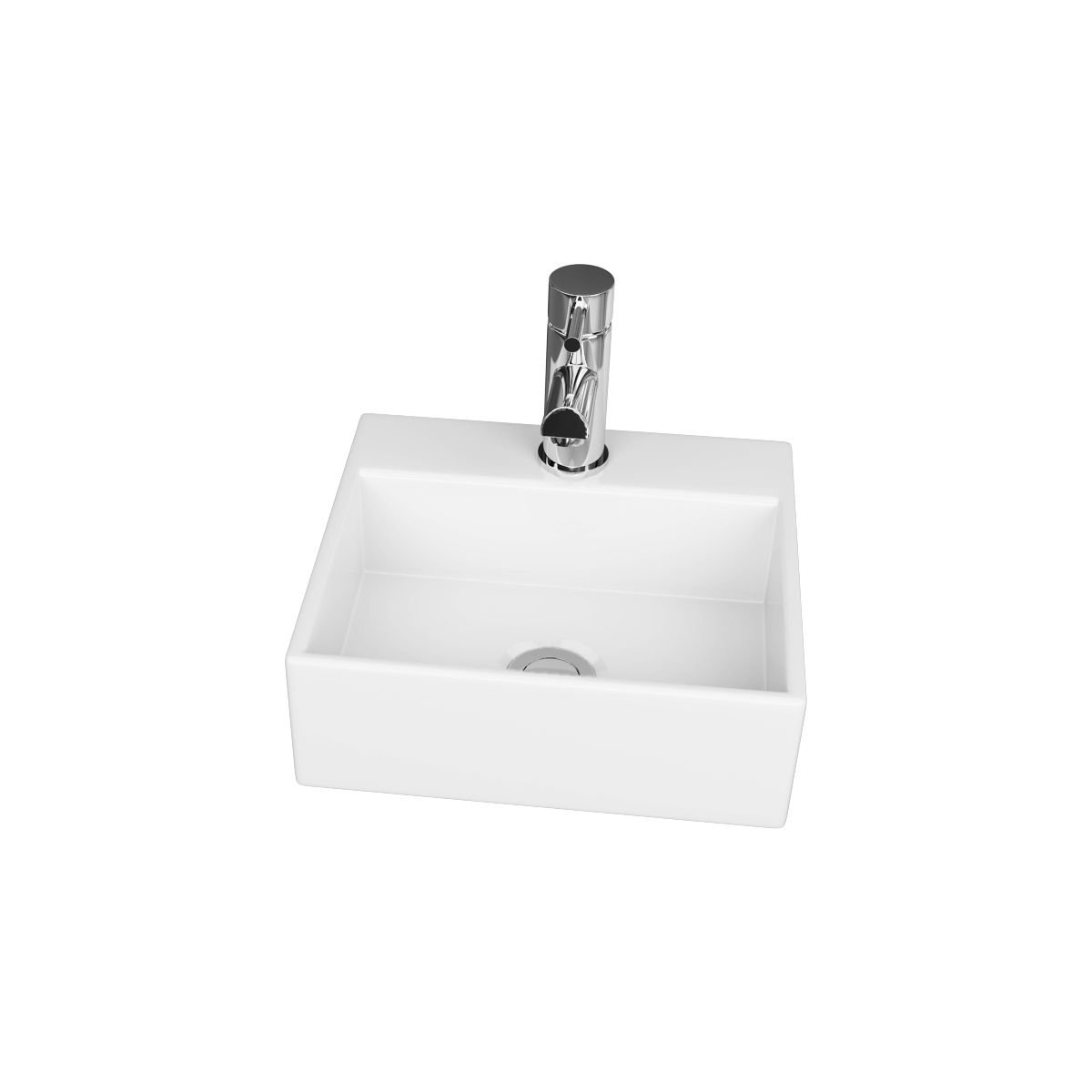 Cassellie 1 Tap Hole Wall Hung Cloakroom Basin 330mm