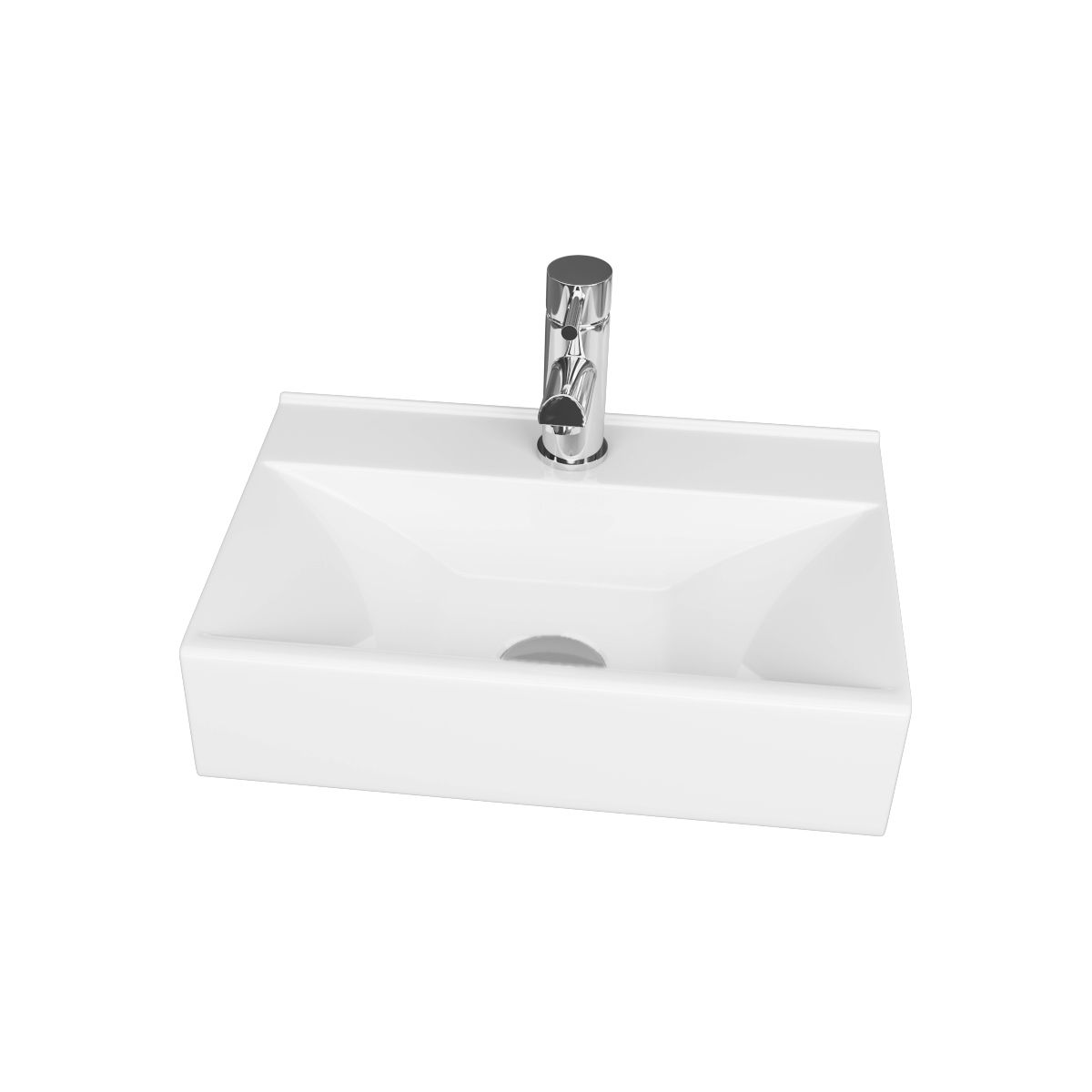 Cassellie 1 Tap Hole Wall Hung Cloakroom Basin 460mm