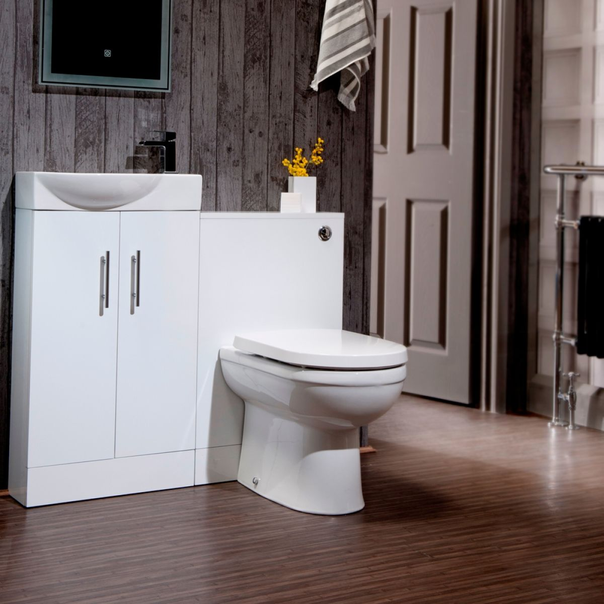 Cassellie Cube Gloss White Mini WC Unit