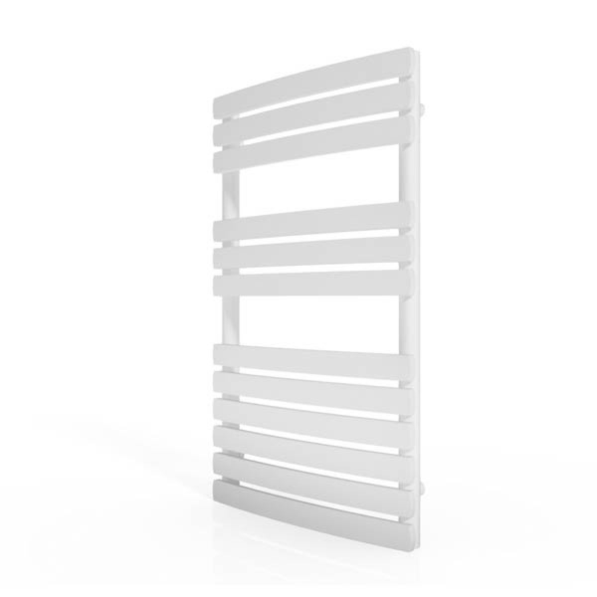 Cassellie White Straight Heated Towel Rail With Flat Profile 800 x 500mm