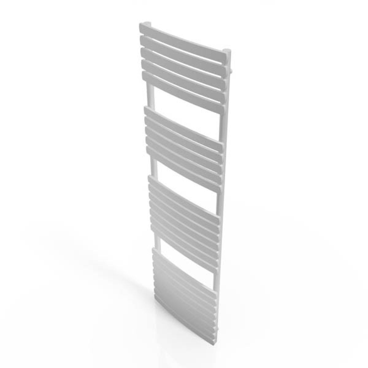 Cassellie White Straight Heated Towel Rail With Flat Profile 1700 x 500mm