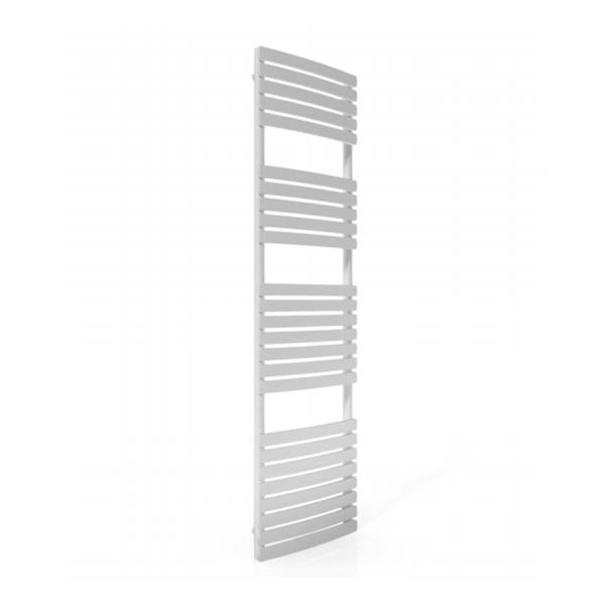 Cassellie White Straight Heated Towel Rail With Flat Profile