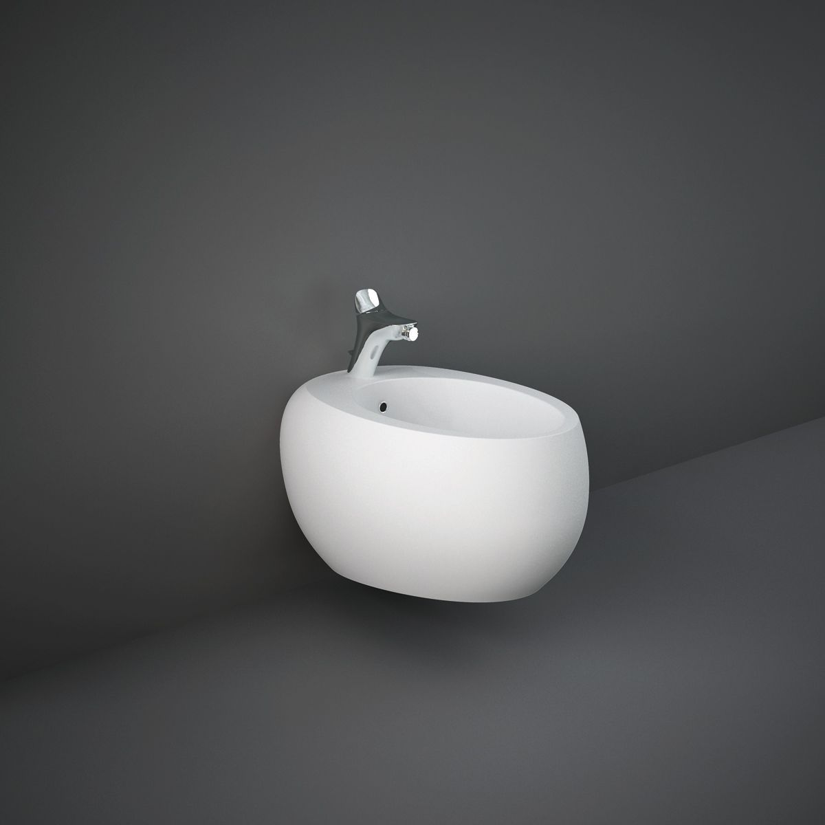 RAK Cloud Matt White Wall Hung Bidet