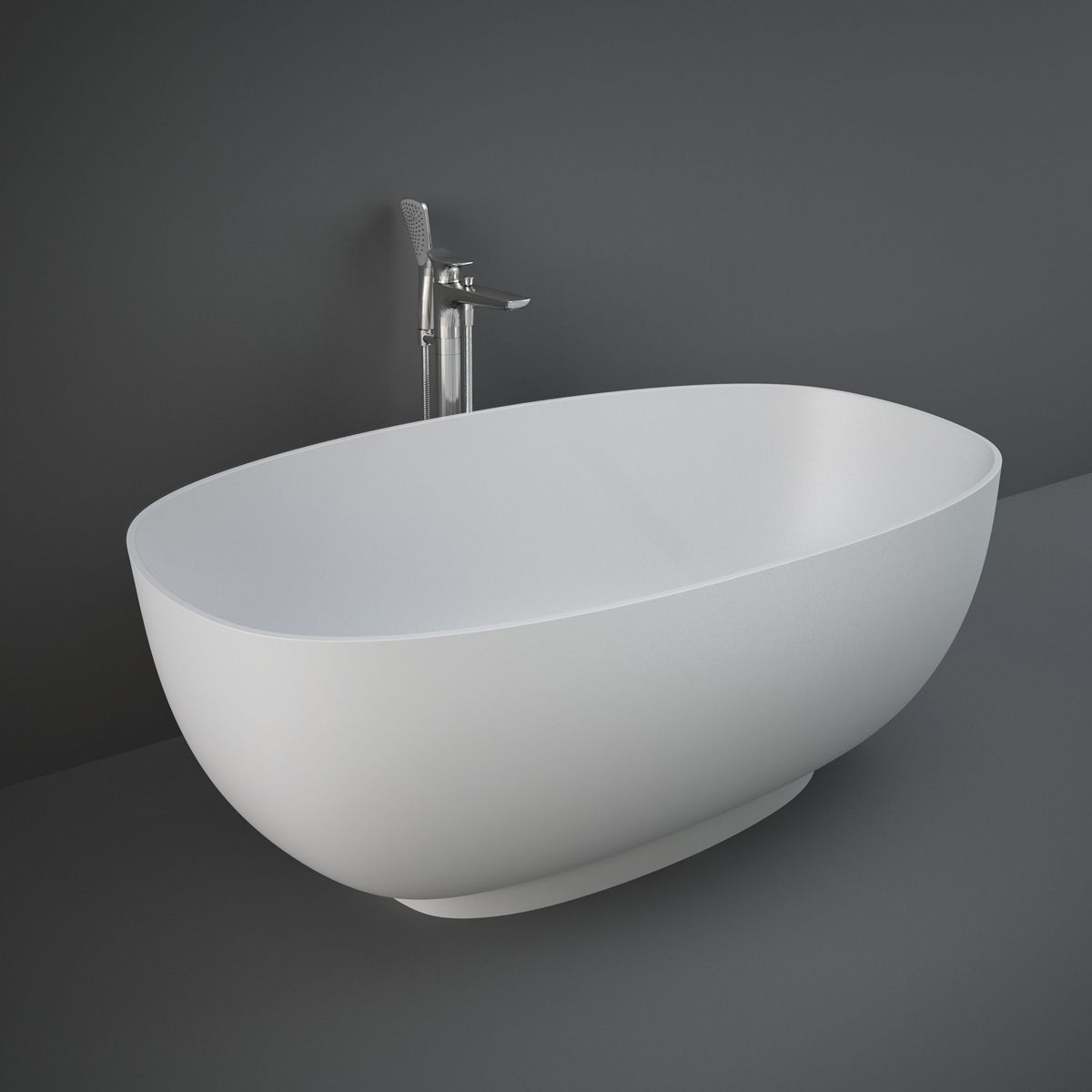 RAK Cloud Matt White Freestanding Bath 1400mm