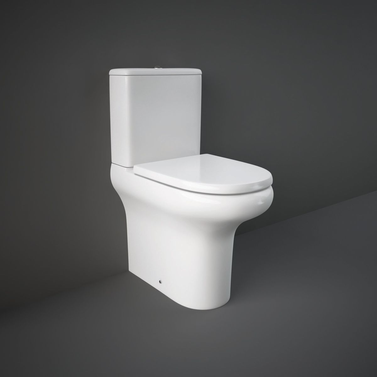 RAK Compact Comfort Height Flush To Wall Toilet