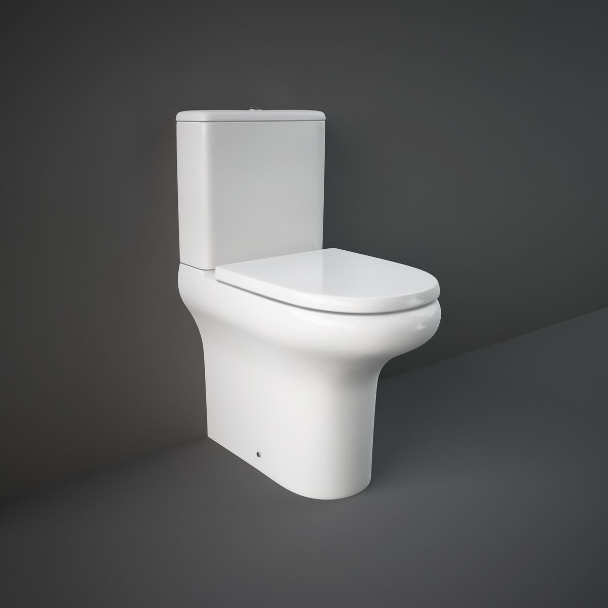 RAK Compact Rimless Deluxe Comfort Height Fully Back To Wall Toilet