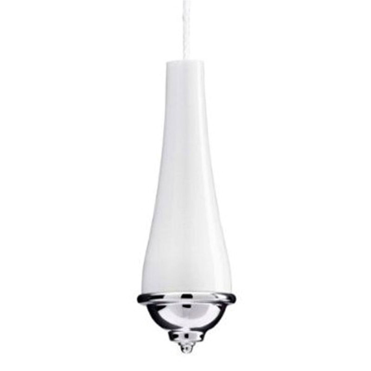 Croydex Classic Light Pull Cord White and Chrome