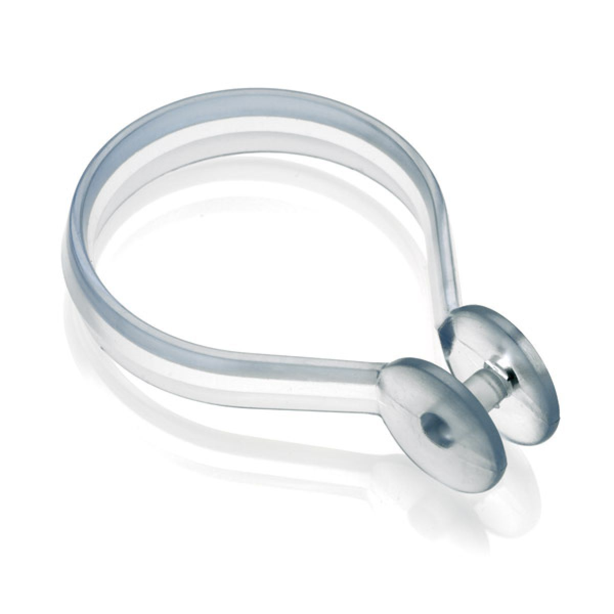 Croydex Clear Shower Curtain Button Ring