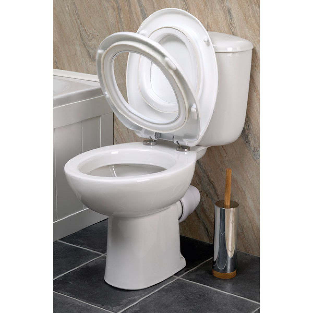 Croydex Safeflush White Toilet Seat Detail