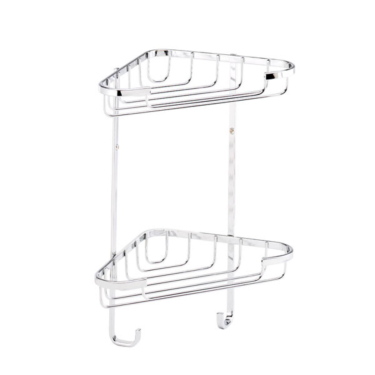 Croydex Stainless Steel Small Two Tier Corner Basket
