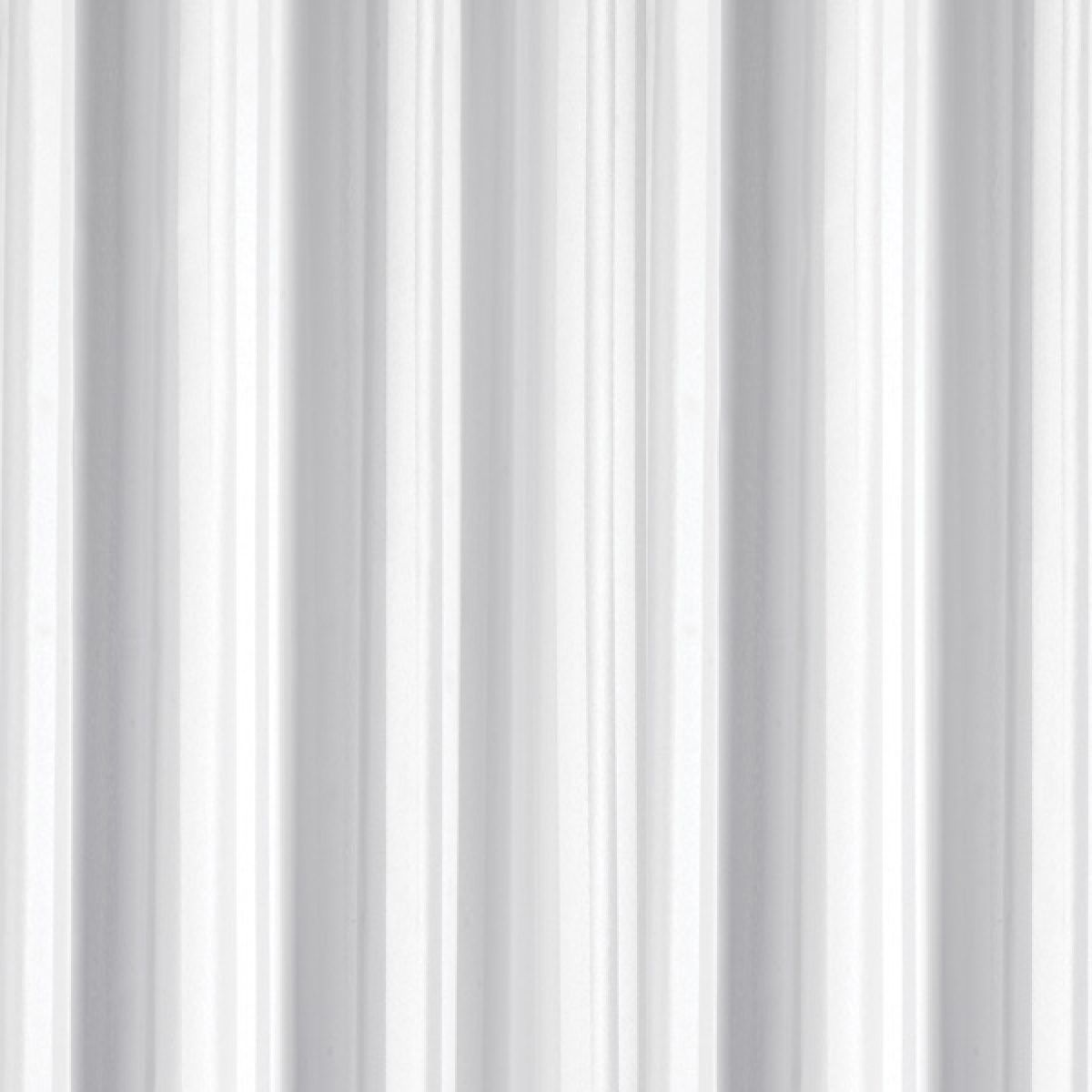 Croydex Textile White Regency Stripe Hookless Shower Curtain