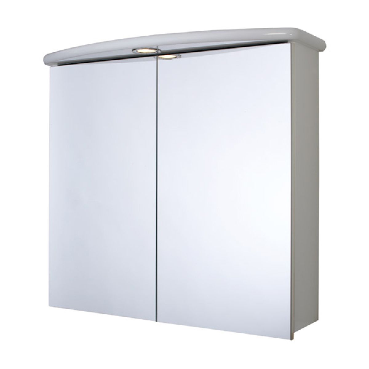 Croydex Thames Double Illuminated White Bathroom Cabinet