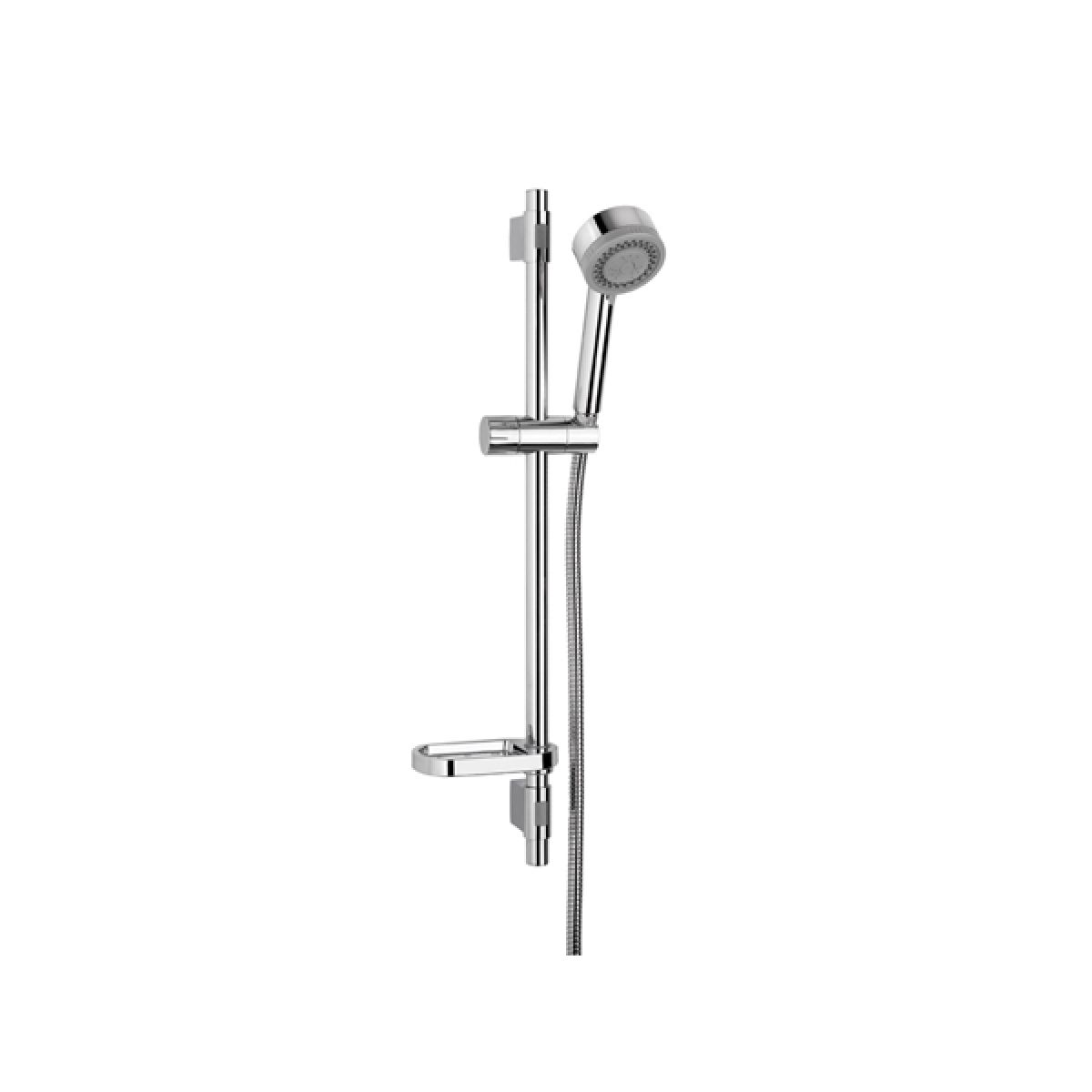 Croydex Three Function Shower Riser Kit Chrome