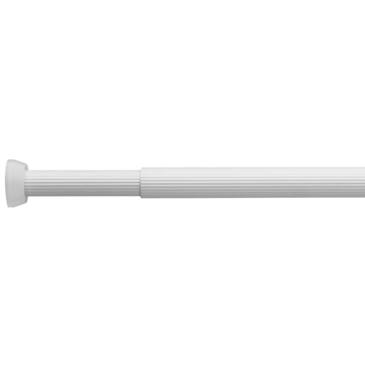 Croydex White Heavy Duty Telescopic Shower Curtain Rail