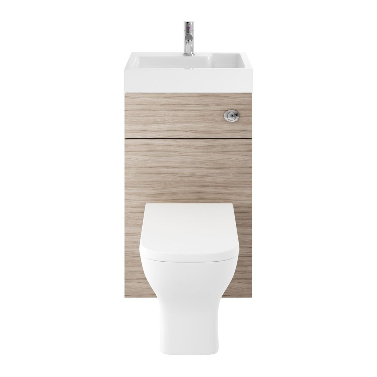 Driftwood Toilet with Integrated Basin