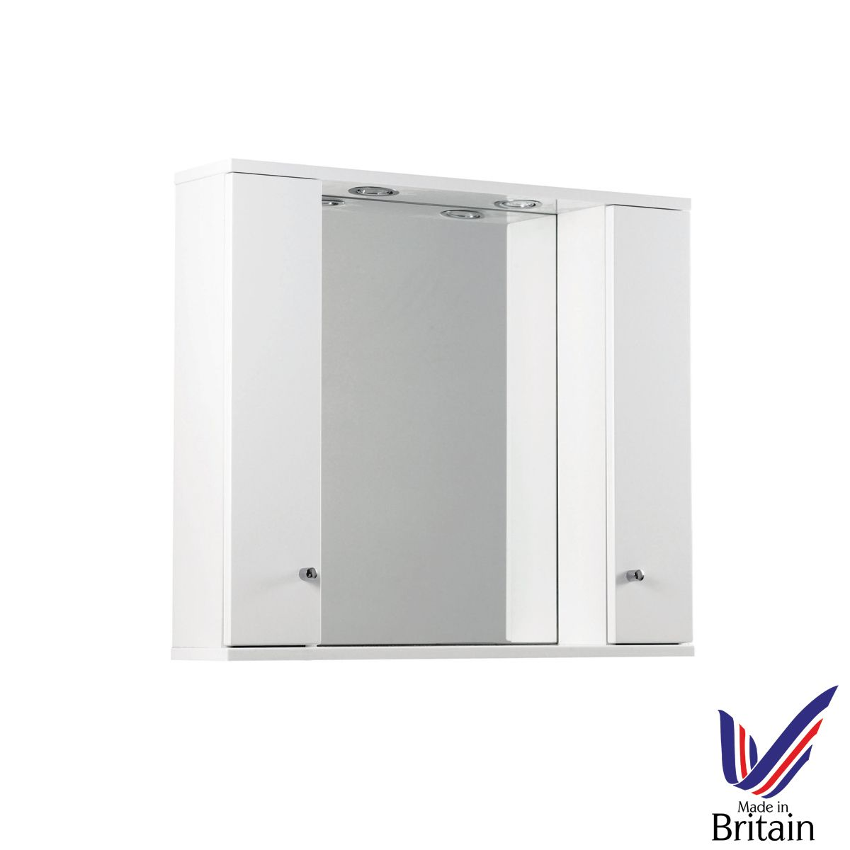 Ikoma White Gloss Mirror Unit 850mm