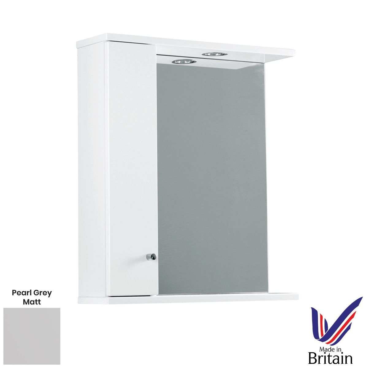 Elation Ikoma Pearl Grey Matt Mirror Unit 650mm