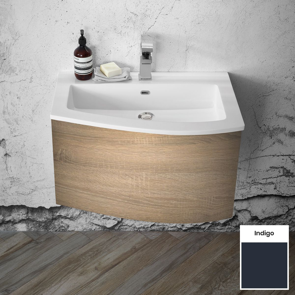 Elation Kiyo Indigo Vanity Unit 700mm Right Handed
