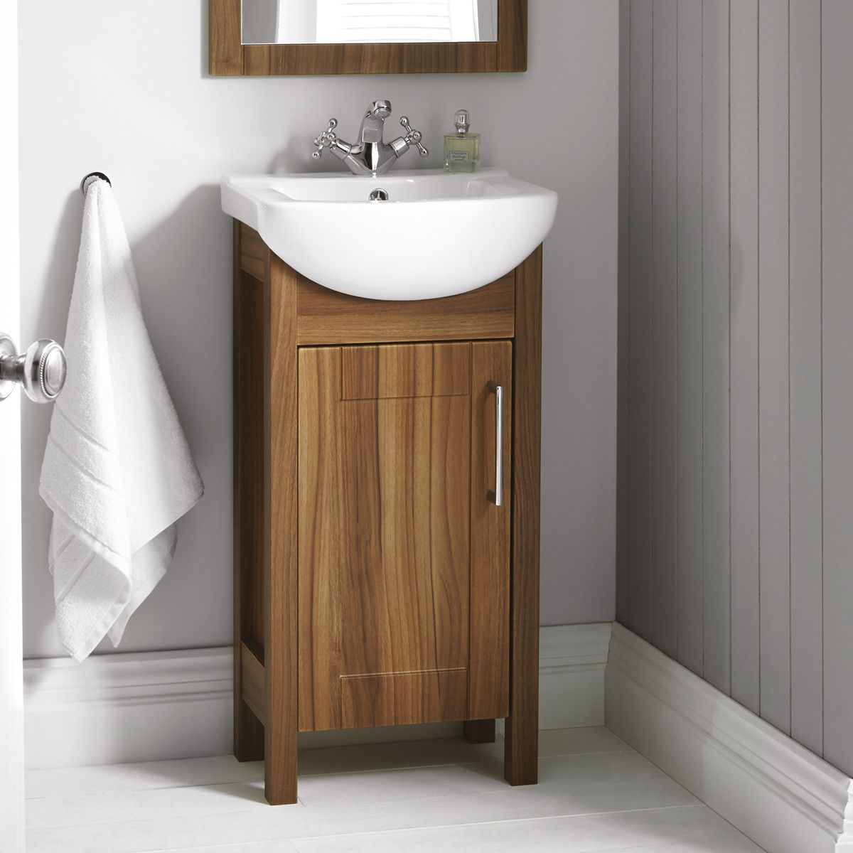 Elation Sendai Dijon Walnut Vanity Unit with Basin 450mm