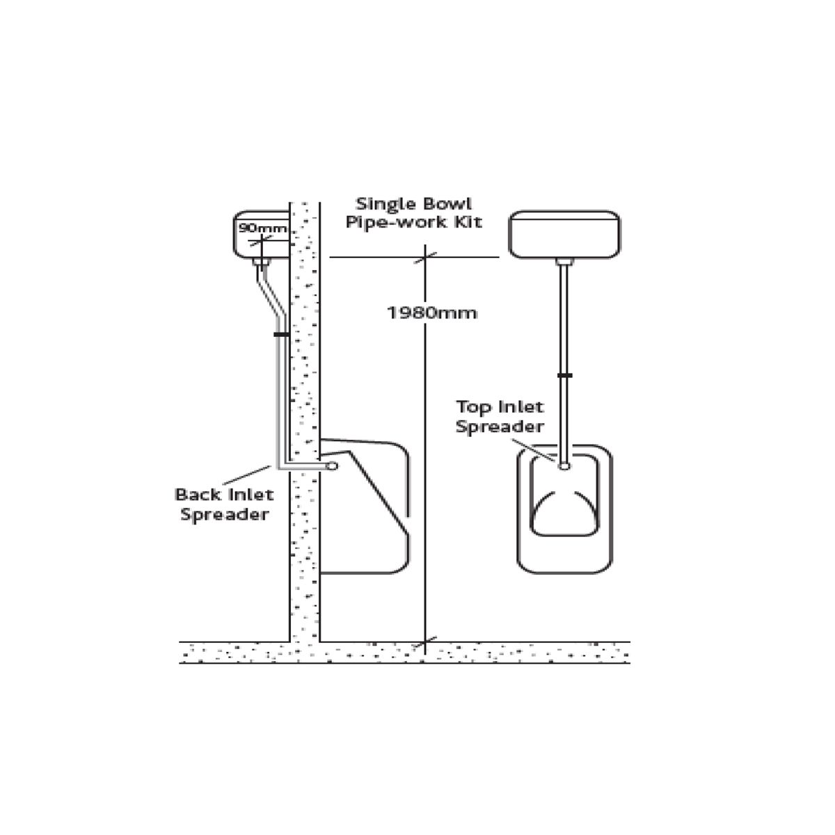 RAK Concealed Automatic Urinal Cistern 4.5L