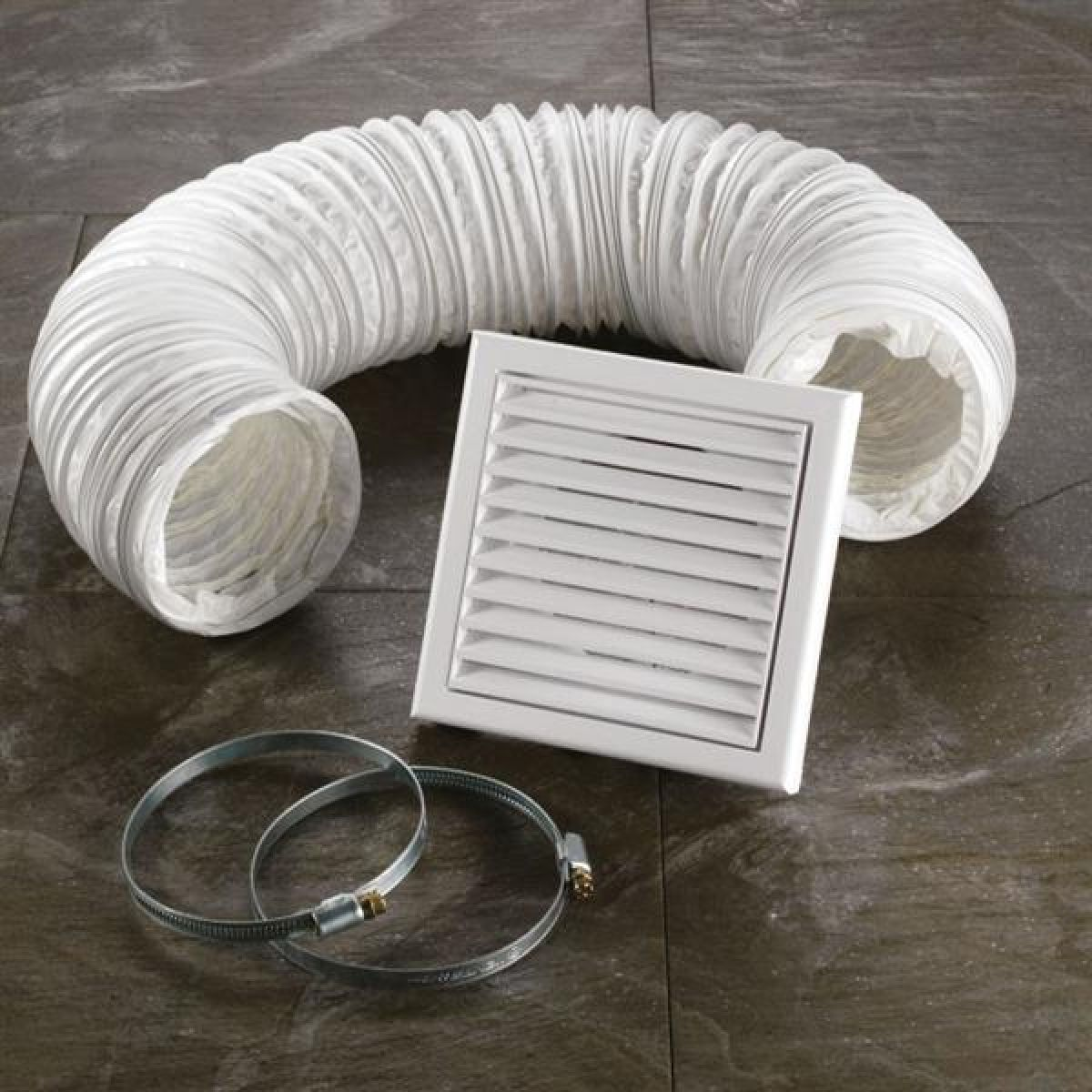 HiB Wetroom Extractor Fan Accessory Kit in White