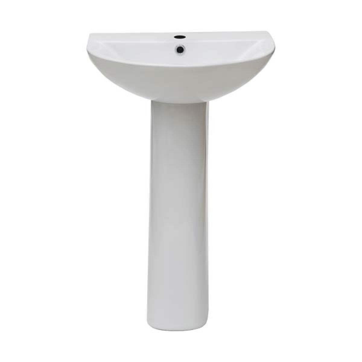Frontline F60R 1 Tap Hole Basin with Pedistal 550mm