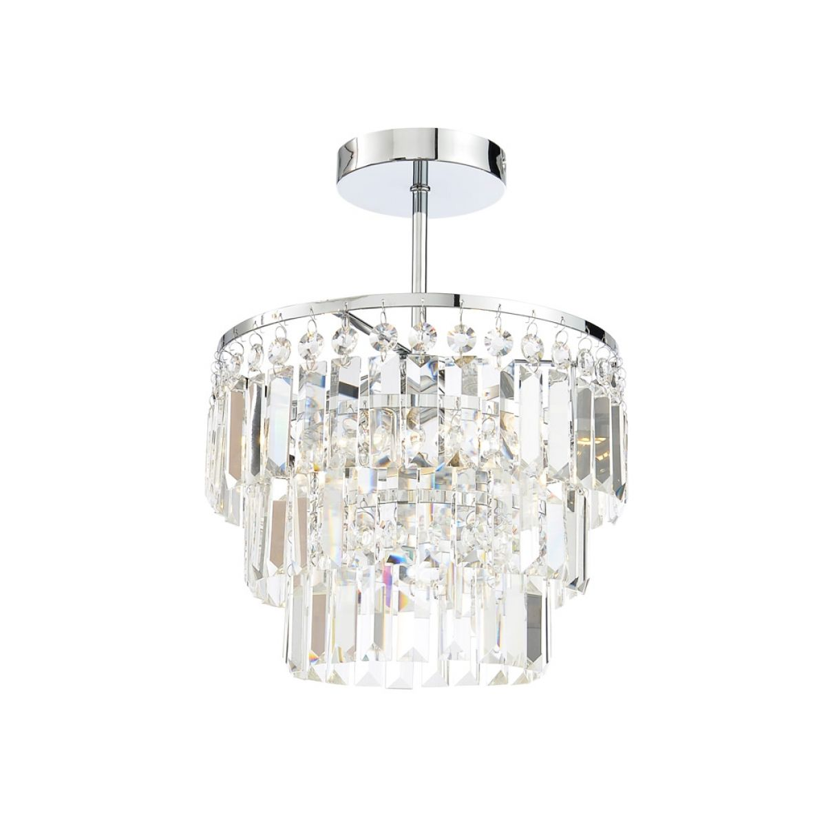 Forum Belle Crystal Chisel Cut Bars Semi Flush
