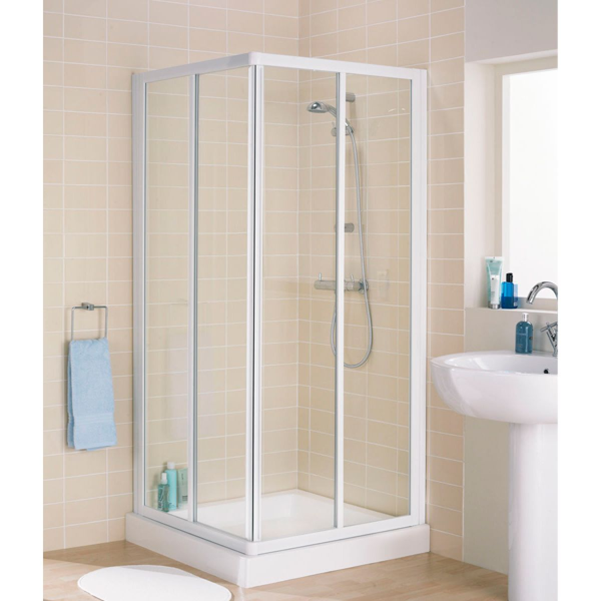 Lakes Classic Silver Corner Entry Shower Enclosure
