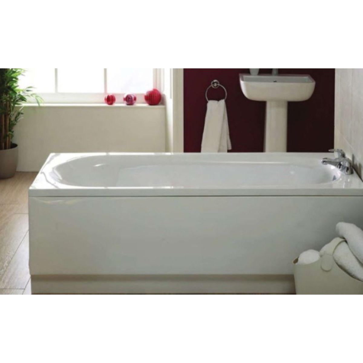 Frontline Caymen Single Ended Bath in Situation