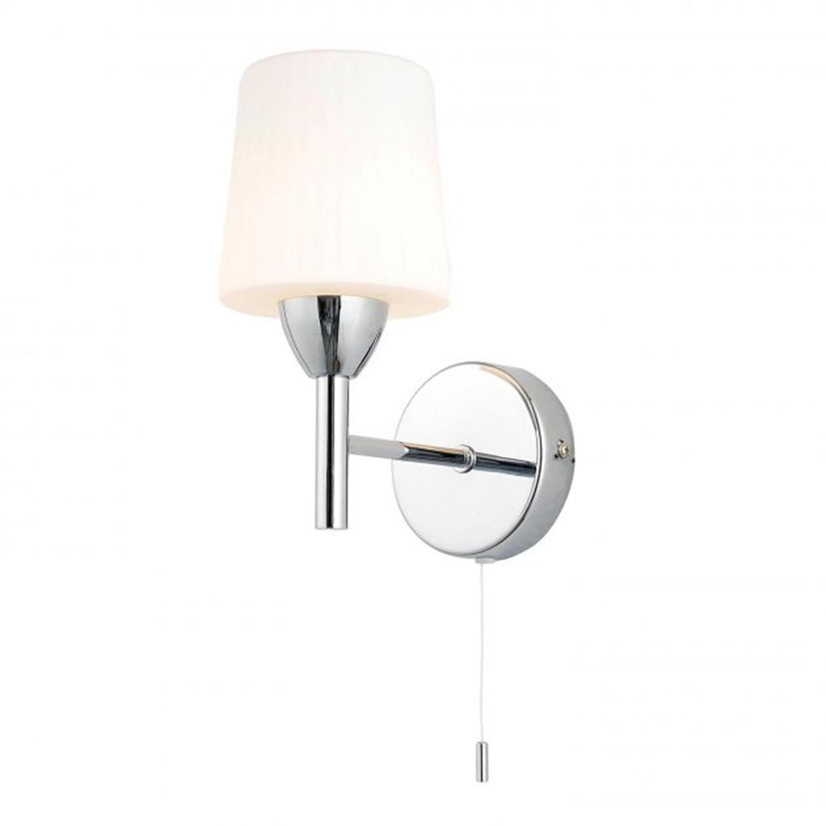 Frontline Chrome Aqua Wall Light with Pull Chord 100mm