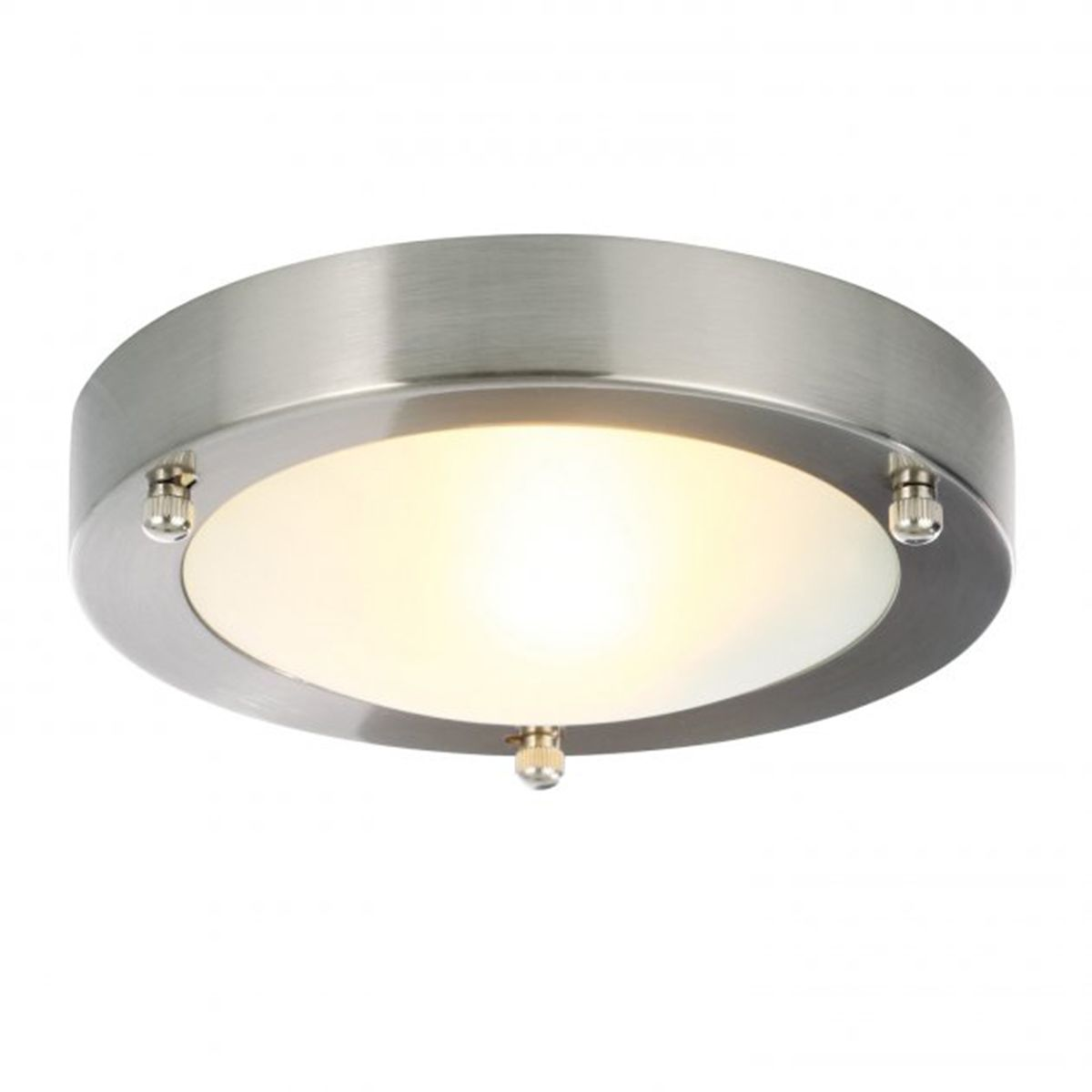 Frontline Chrome Cane Round Flush Ceiling Light 180mm