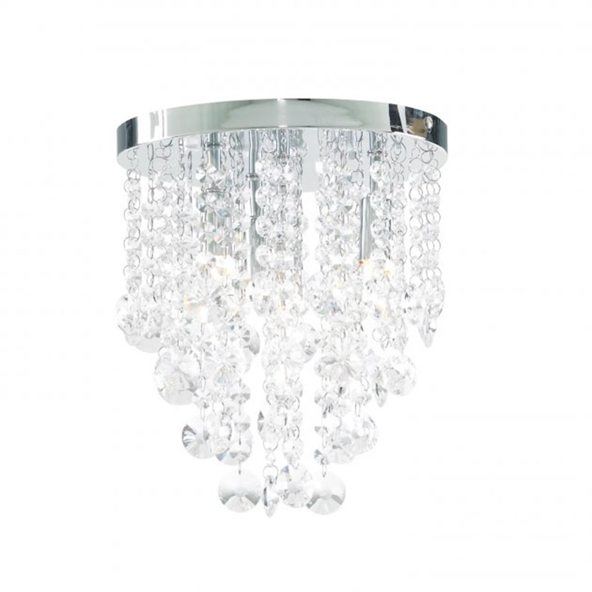 Frontline Chrome Crystal Dropped Bathroom Chandelier 260mm