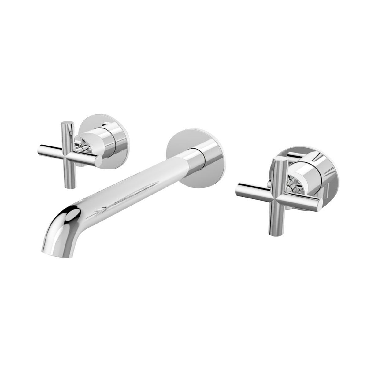 Frontline Chrome Mineral Wall Mounted 3TH Crosshead Basin Mixer