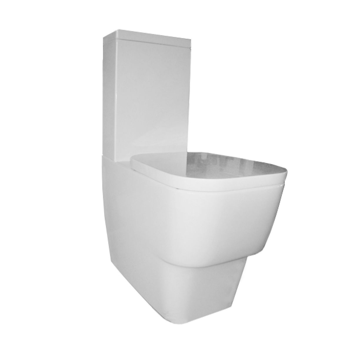 Frontline Cubix Close Coupled Toilet with Soft Close Seat