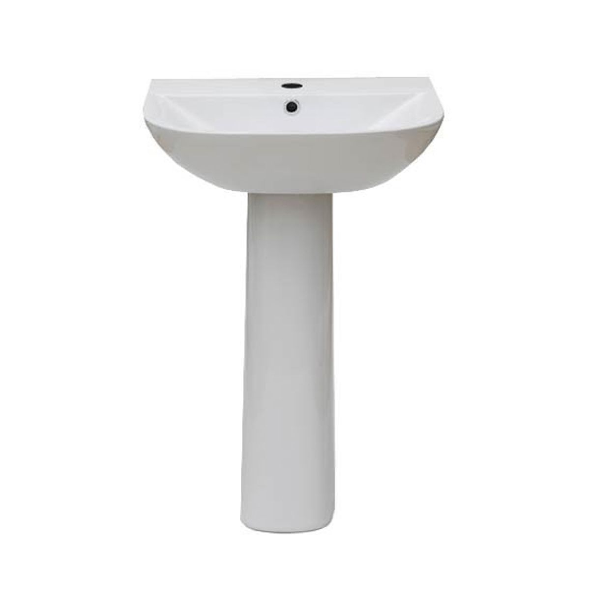 Frontline F60S 1 Tap Hole Basin with Pedistal 550mm