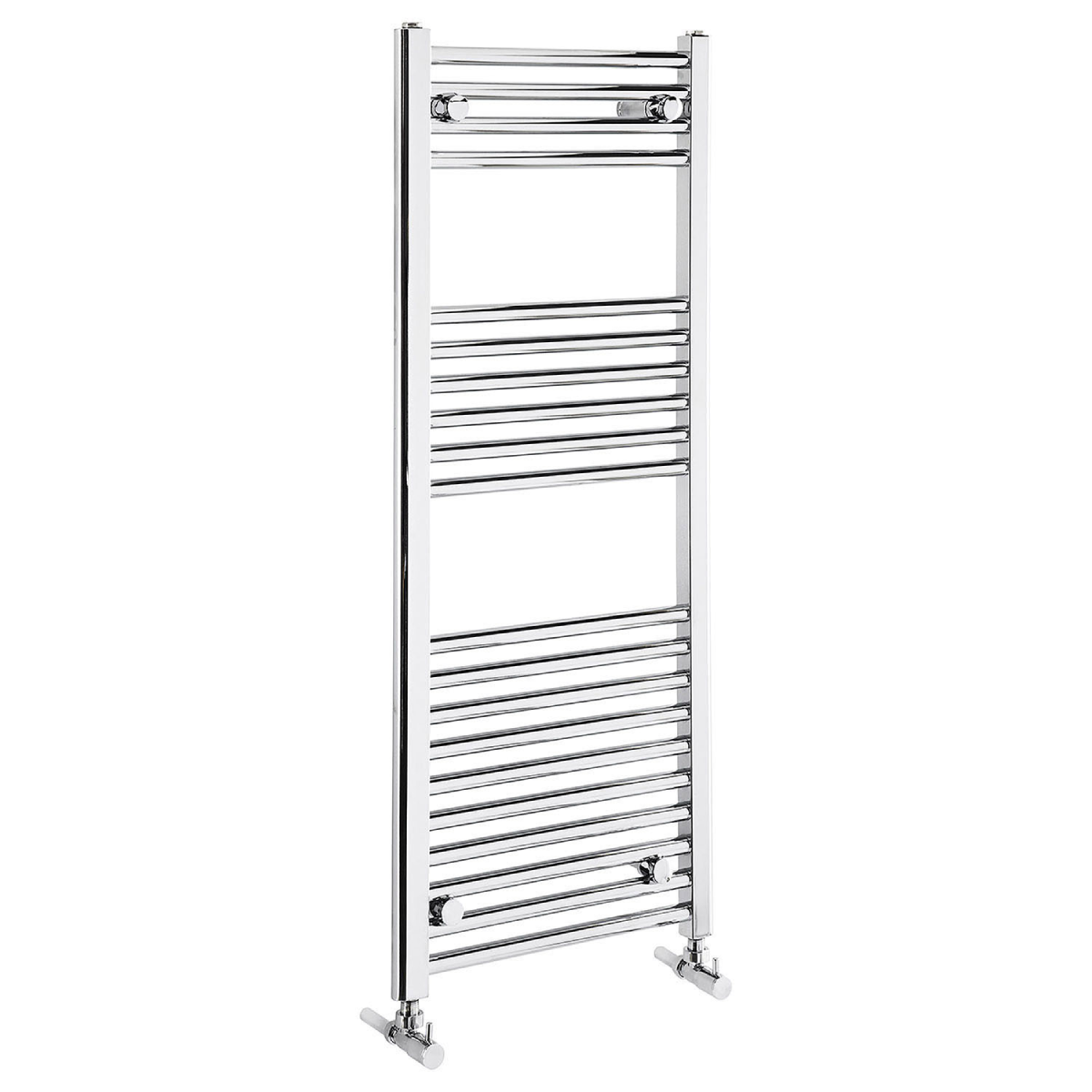 Frontline Flat Chrome Heated Towel Rail With Multiple Hanging Areas W600 H1100