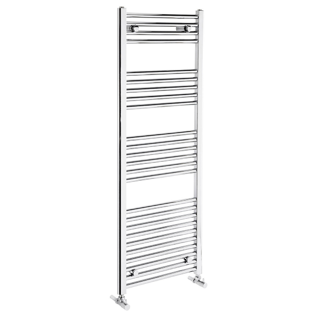 Frontline Flat Chrome Heated Towel Rail With Multiple Hanging Areas W500 H1350