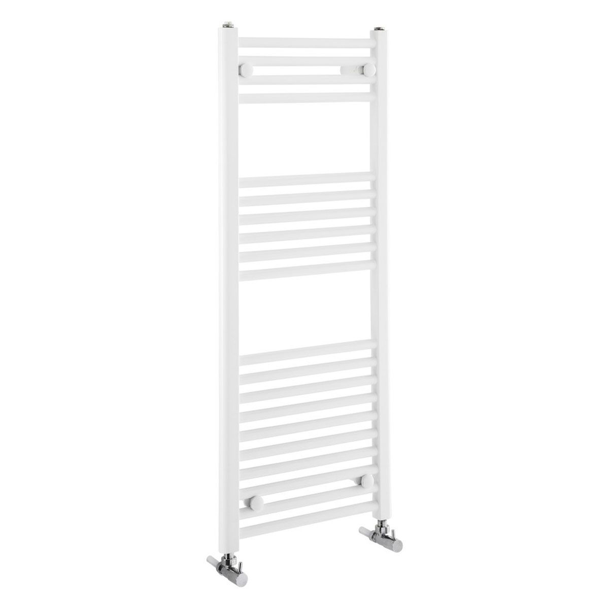 Frontline Flat White Heated Towel Rail With Multiple Hanging Areas W450 H1100