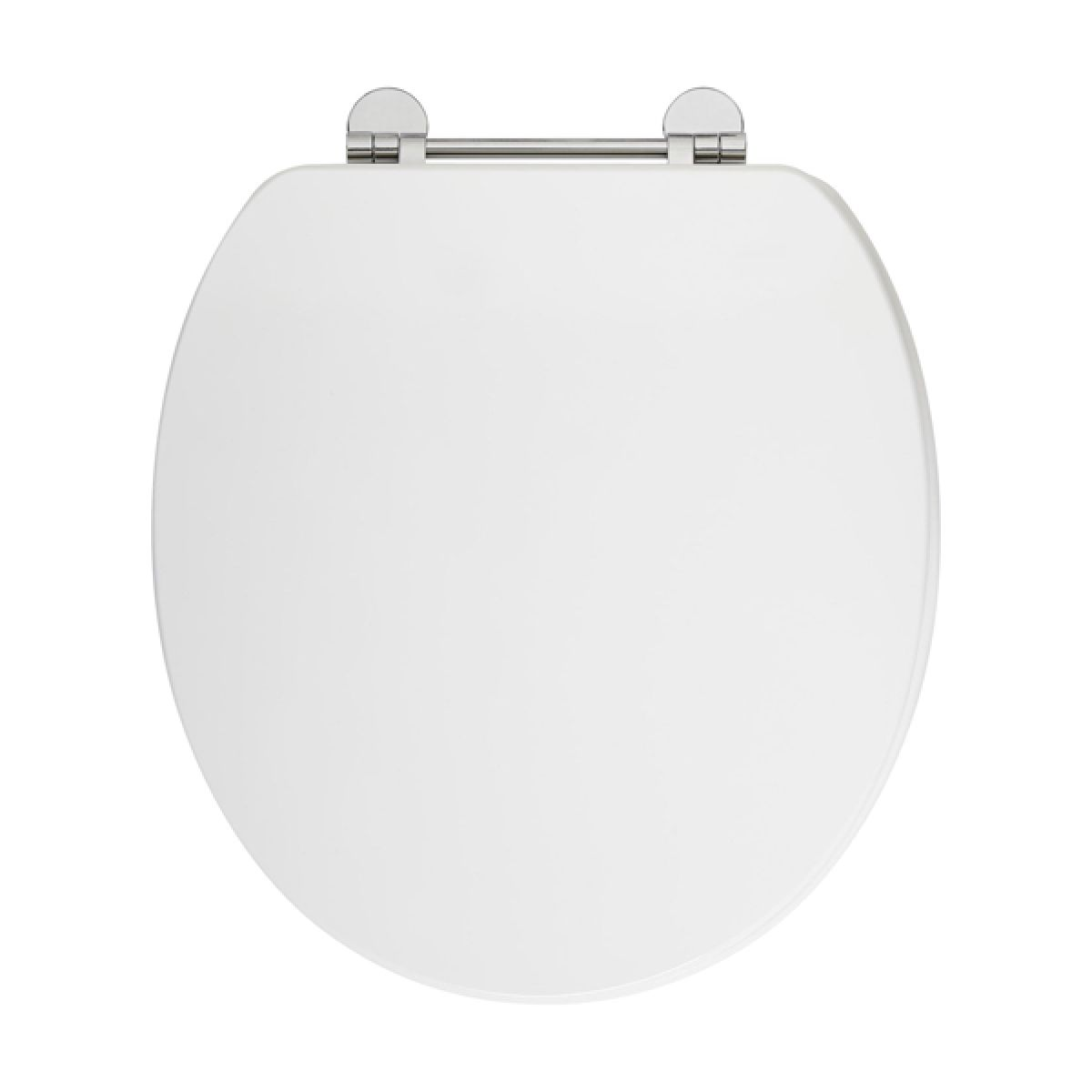 Frontline Gloss White Wooden Toilet Seat with Chrome Fittings