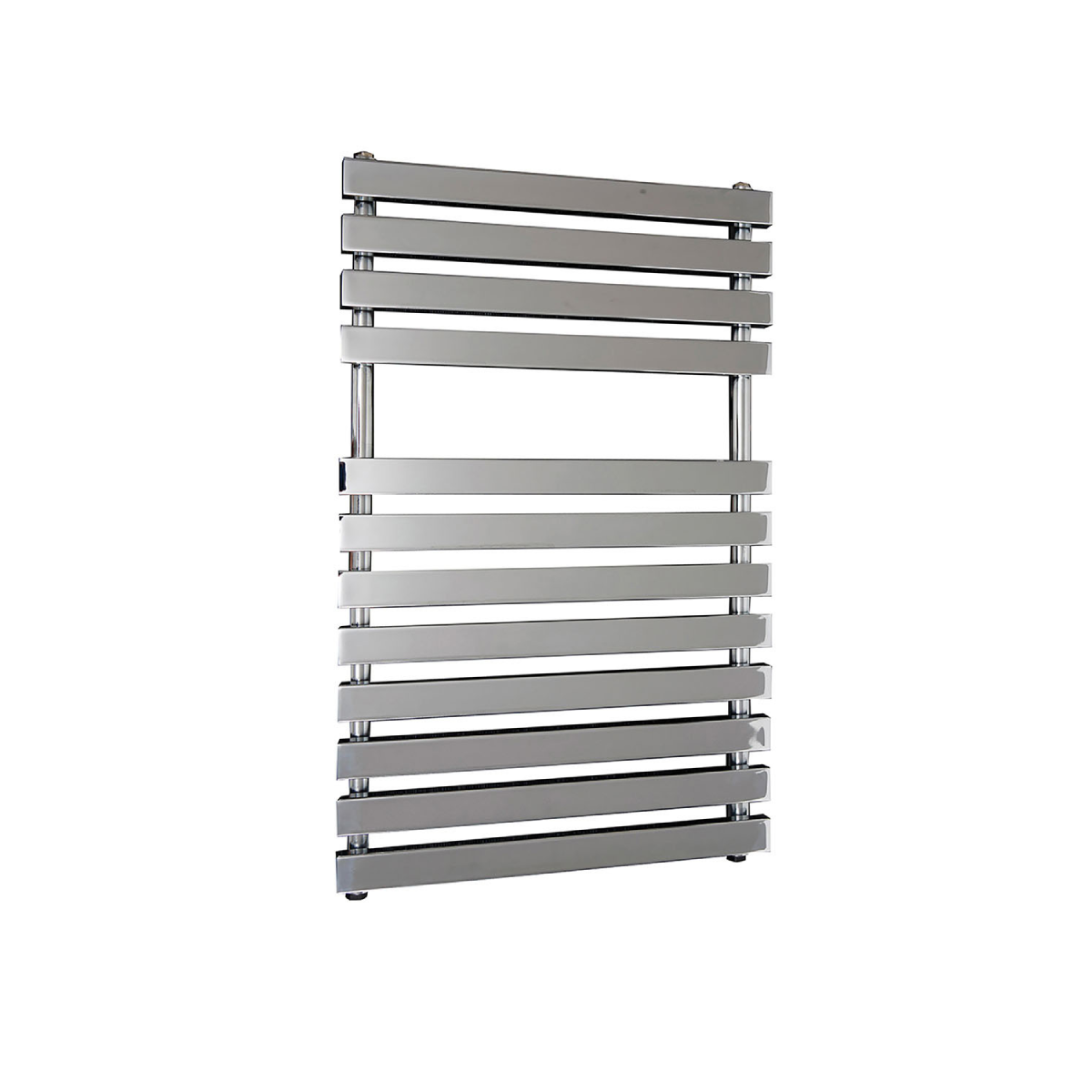 Frontline Karla Chrome Heated Towel Rail With Flat Towel Bars & 2 Hanging Areas W500 H800