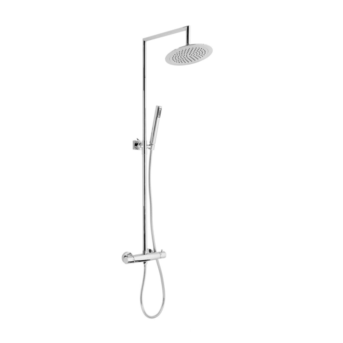 Frontline Lausanne Thermostatic Shower Column with ABS Fixed Head