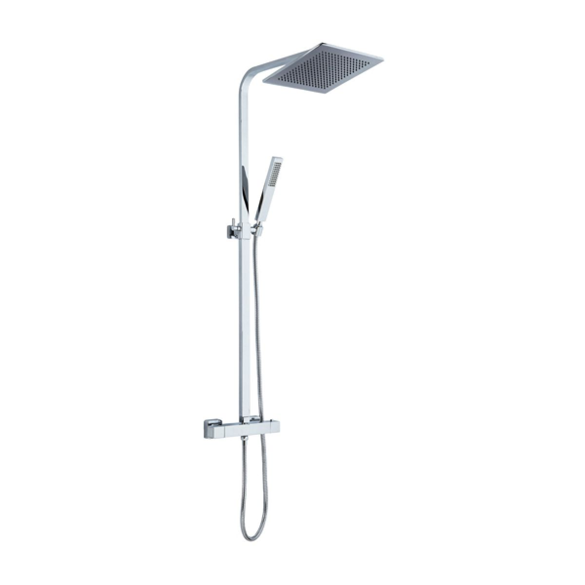 Frontline Montreux Thermostatic Shower Column with Square Fixed Head