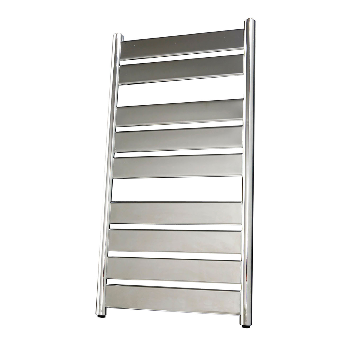 Frontline Riva Chrome Heated Towel Rail With Flat Towel Bar W500 H950